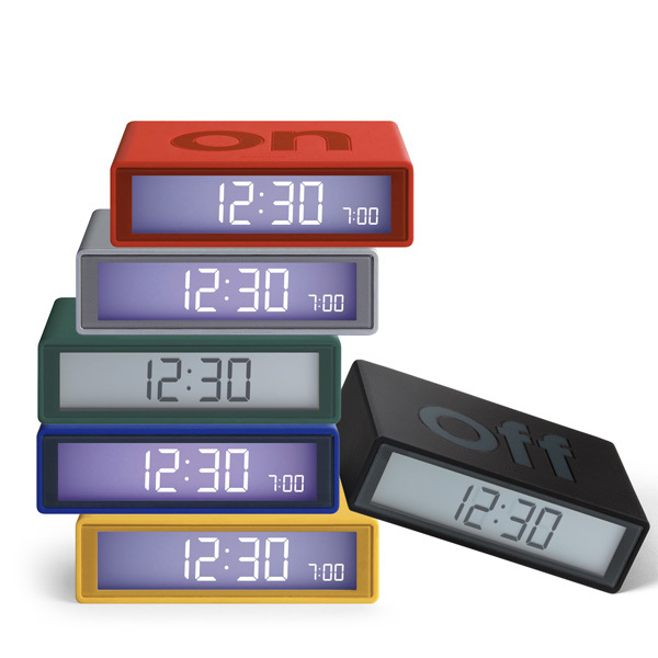 Lexon Design Orologio sveglia digitale FLIP Immagine