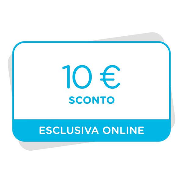 10€ di sconto al tuo prossimo acquisto sul sito Immagine
