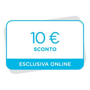 10€ di sconto al tuo prossimo acquisto sul sito