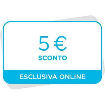 5€ di sconto al tuo prossimo acquisto sul sito