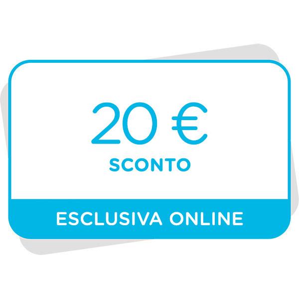 20€ di sconto al tuo prossimo acquisto sul sito Immagine