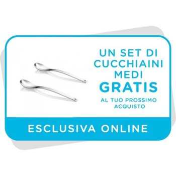 Set di cucchiaini medi gratis al tuo prossimo acquisto sul sito