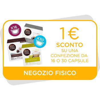 BUONO SCONTO DA 1€ VALIDO SU CONFEZIONI DA 16 E 30 CAPSULE